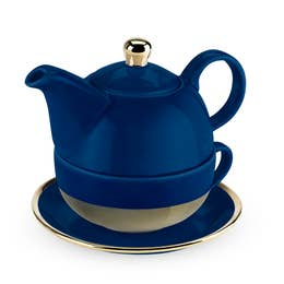 Addison Dark Blue and Gold Tea for One Set