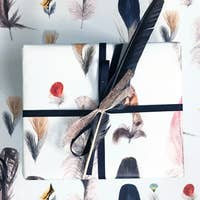 The Feathers Wrapping Paper Sheet