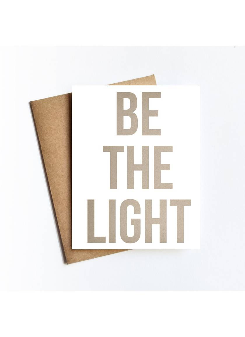 Be The Light Card
