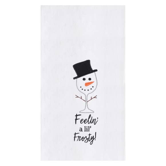 Feeling Frosty Applique & Embroidered Kitchen Towel