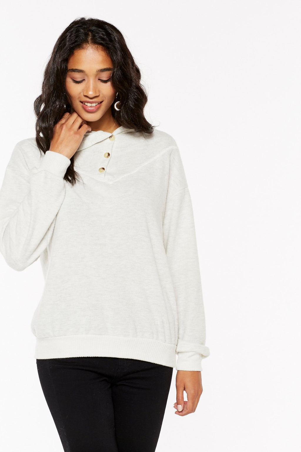 Project Social T Ravine Cozy Button-Neck