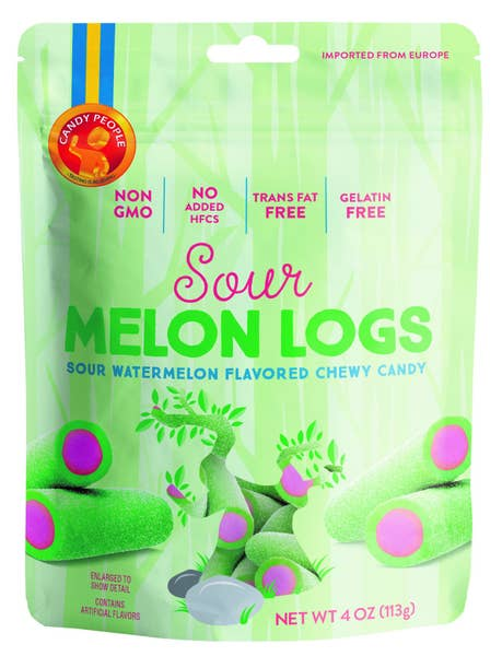 Sour Melon Logs Chewy Candy