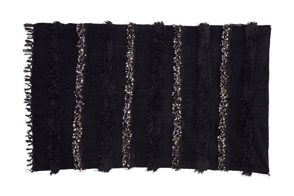 Berber Wares New Handira Black Moroccan Wedding Blanket