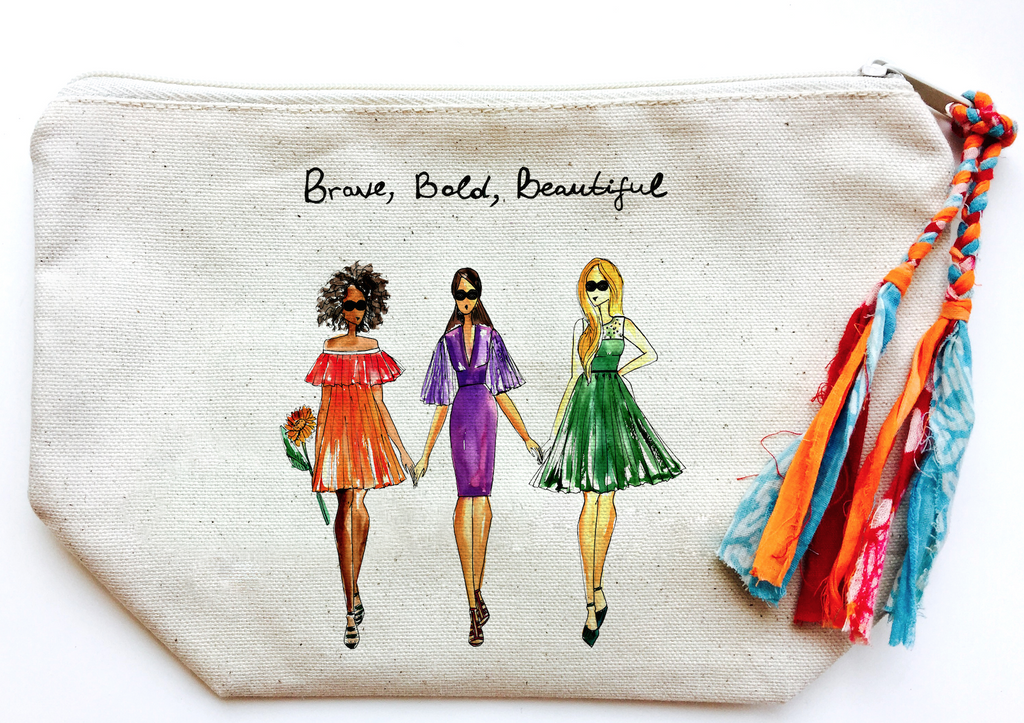 Brave, Bold, Beautiful Makeup Bag