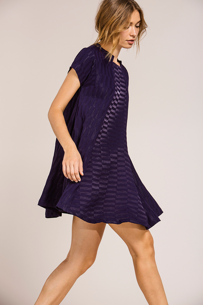 Coverii Juno Navy Texture Dress