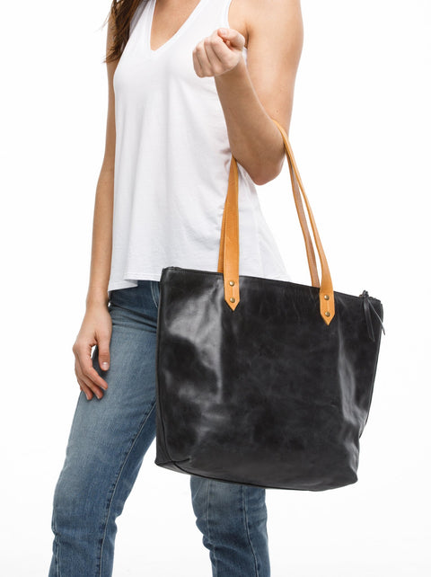 ABLE Chaltu Top Zip Rivet Tote