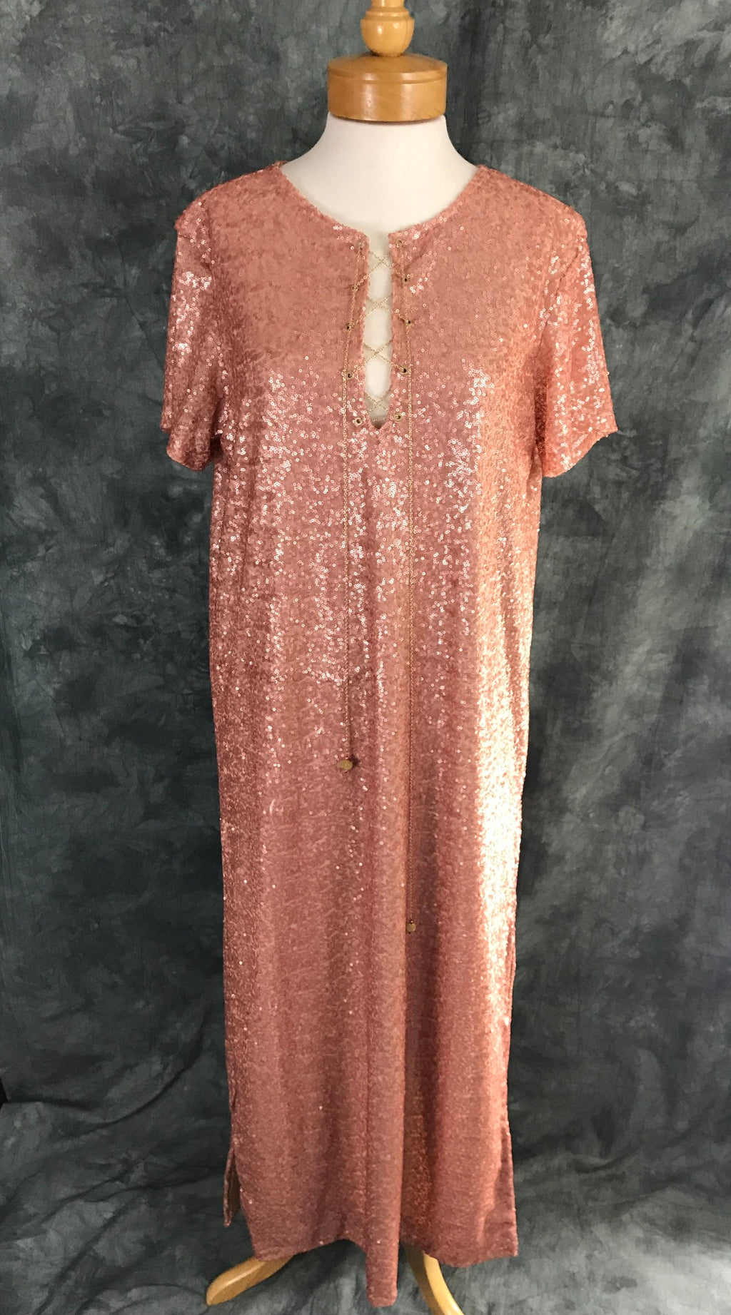 Rose Gold Sequin Tunic Dress