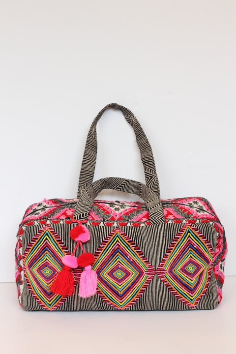 Remedy Road Aztec Beaded Pom Weekender