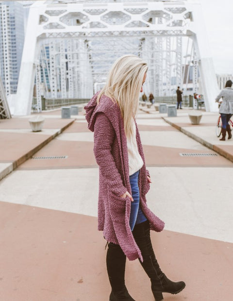 Ashley Lemieux Mauve Duster Cardigan