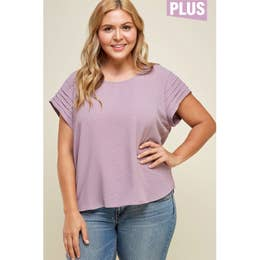 Pintuck Sleeve Top