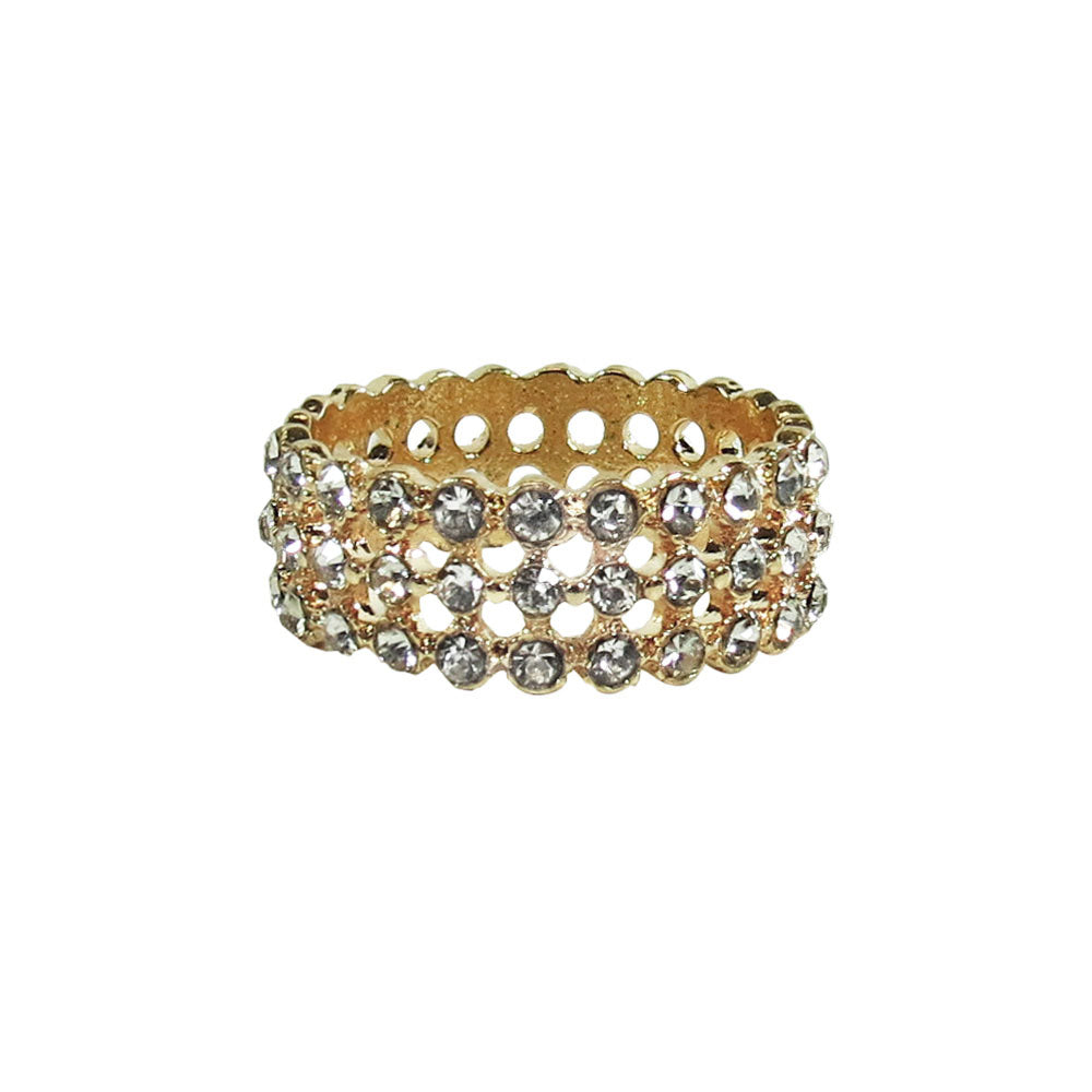 3 Layer Rhinestone Ring