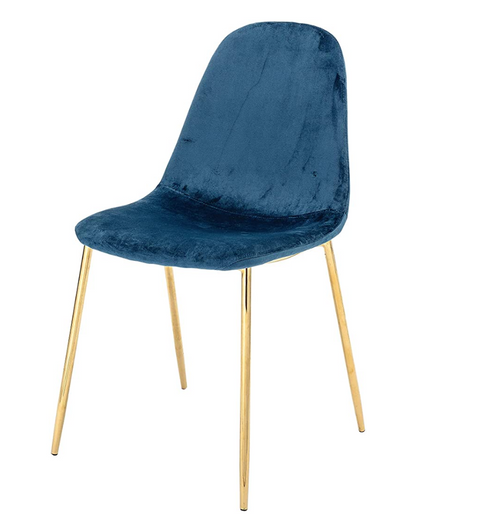 Teal and Gold Desk Chair
