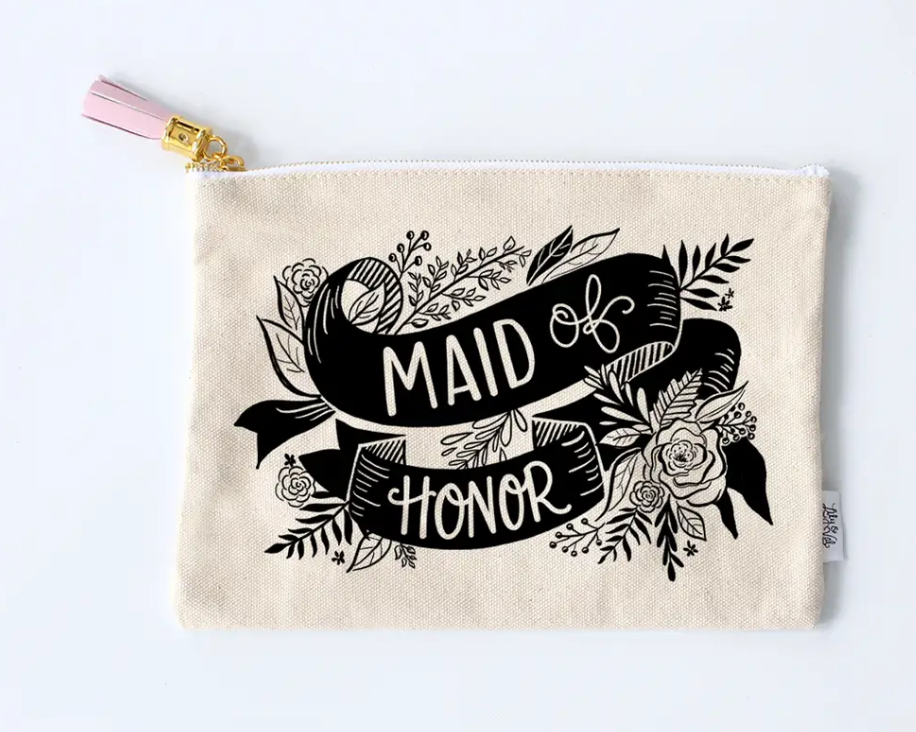 Maid Of Honor Zipper Pouch