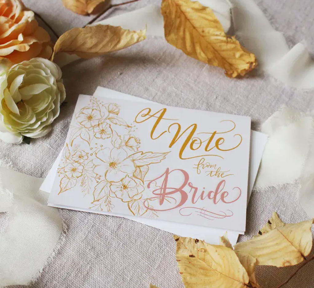 A Note From the Bride Card