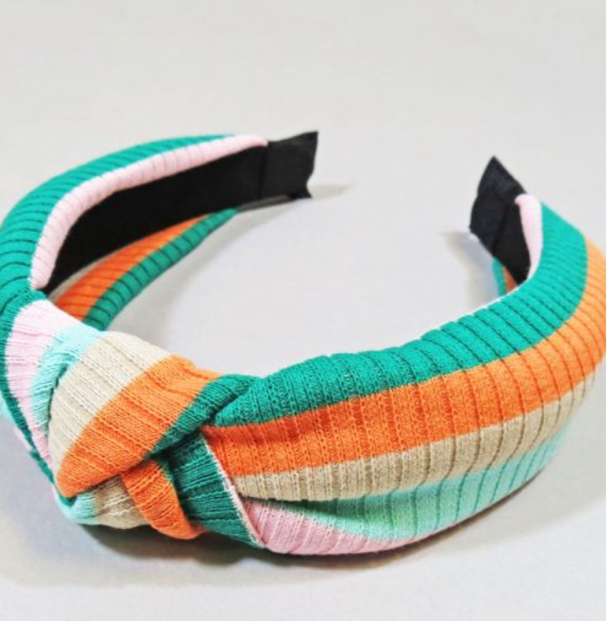 KNOTTED SWEATER HEADBAND – MULTICOLOR