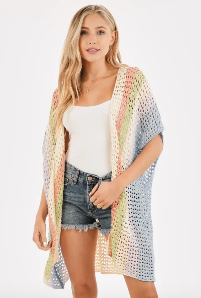 Multi Colored Crochet Cardigan