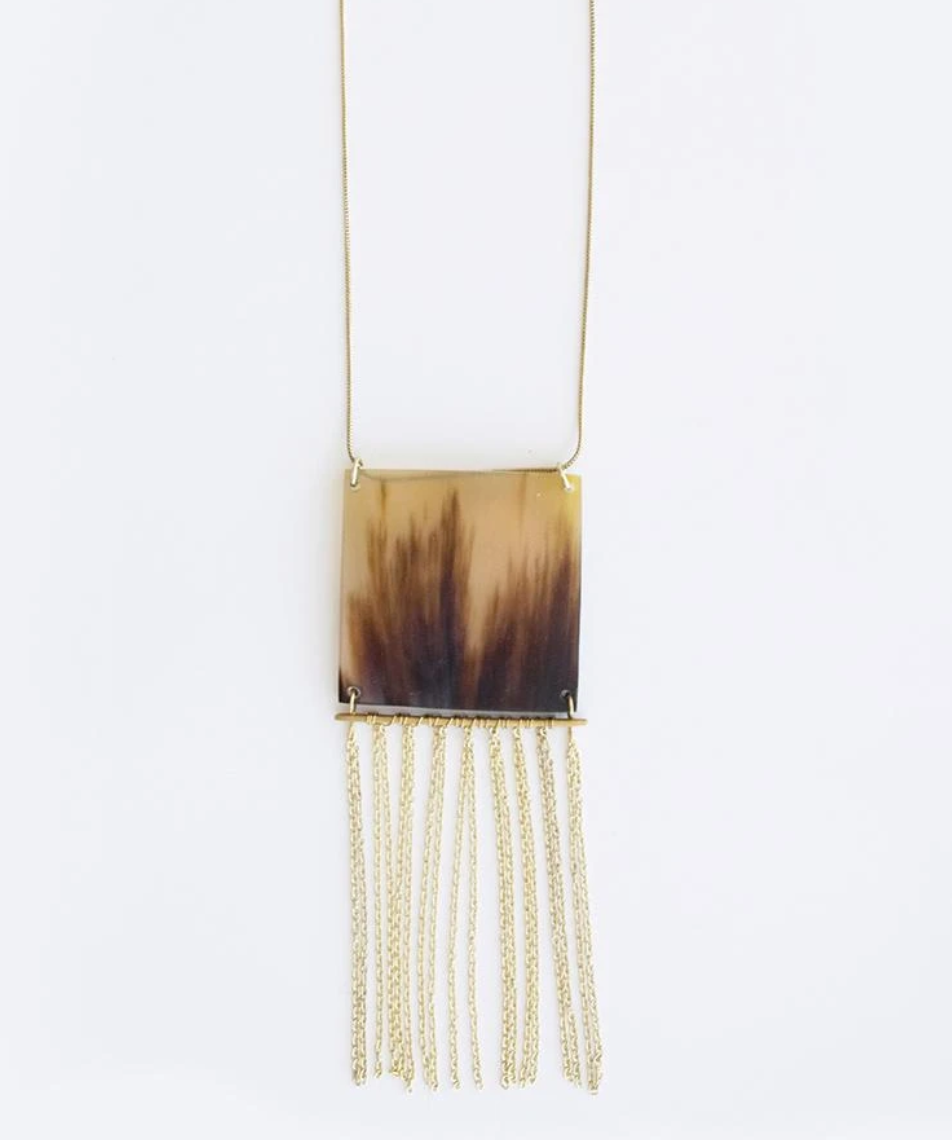 Mata Traders Horn Fringe Necklace