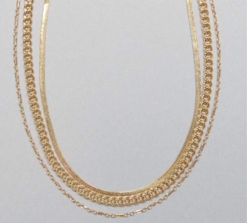 Triple Layered Short Necklace