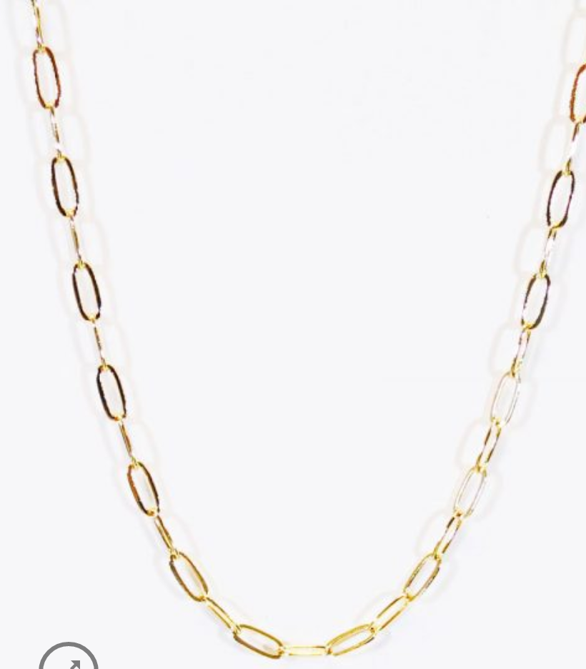 Paperclip Linked Mask Chain-Gold