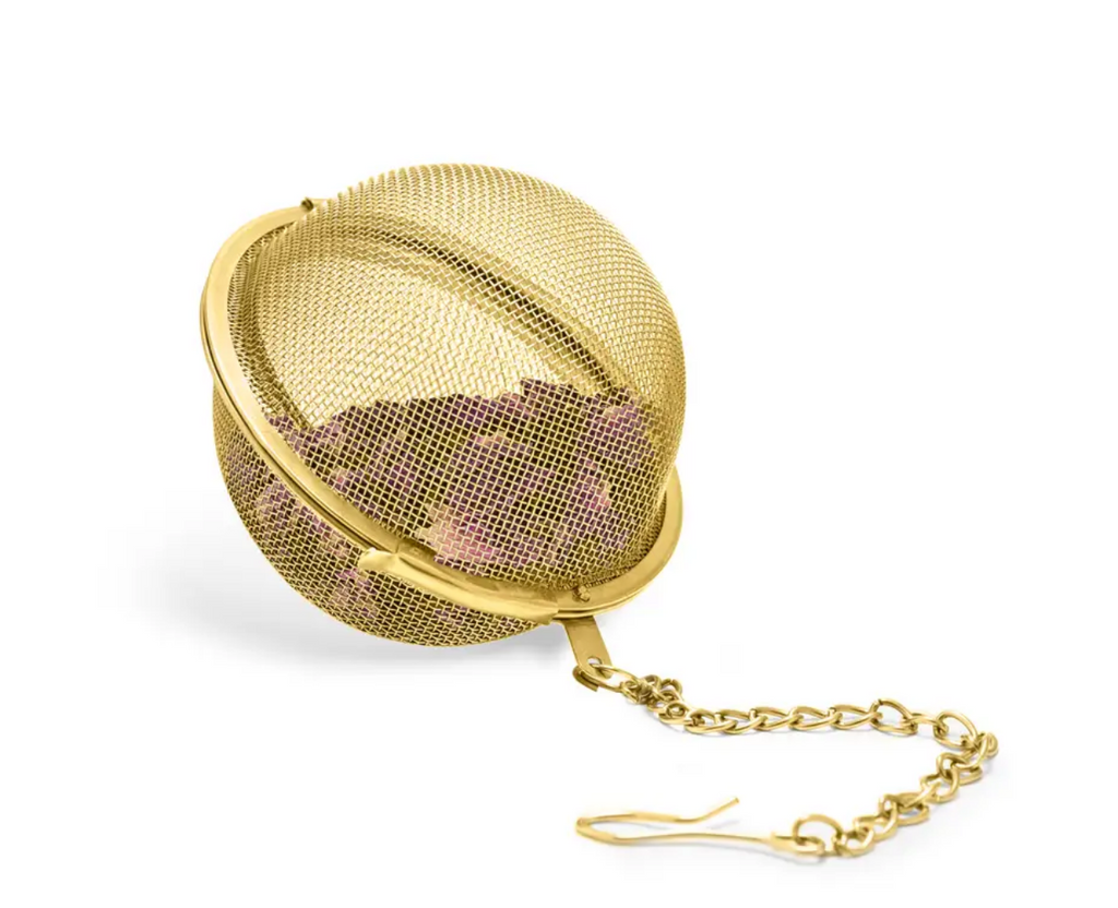 Small Tea Infuser Ball in Gold by Pinky Up