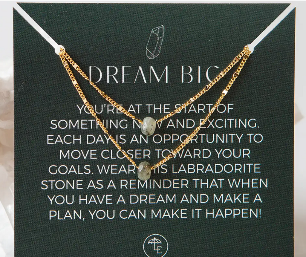 Dream Big Necklace- Labradorite