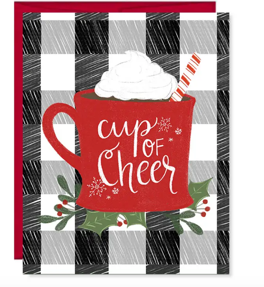 Christmas Card, Cup of Cheer, Happy Holidays, Greeting Card