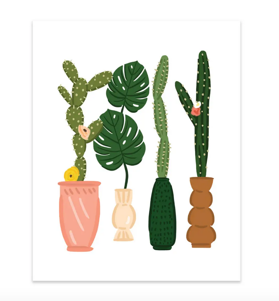 Tall Plants Art Print