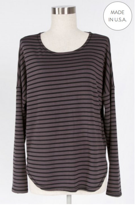 Striped Lounge Top