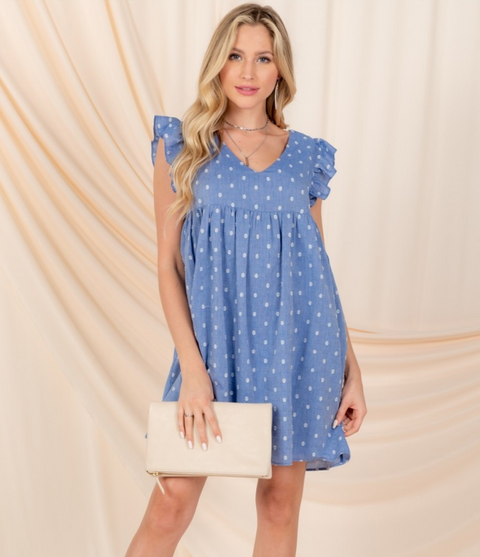 Little Blue Babydoll Dress