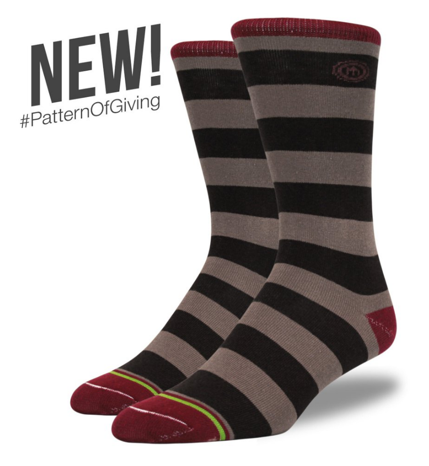 Mitscoots The Rachel - Men's Brown Striped Socks