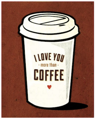 Good Paper Coffee Love Card