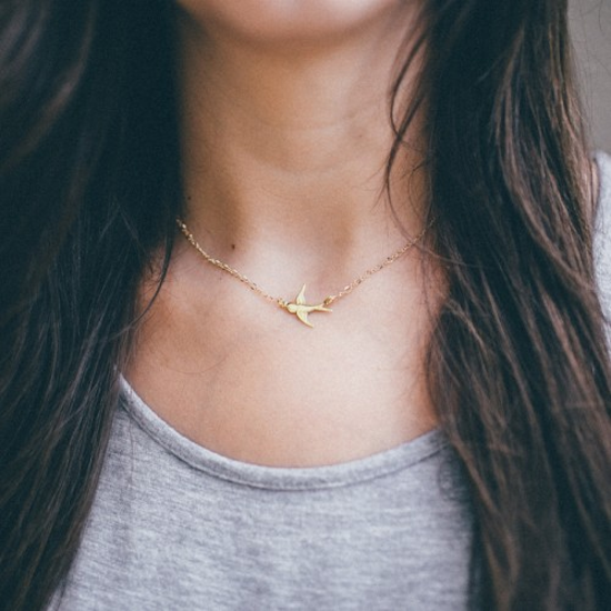 The Shine Project Sparrow Charm Necklace