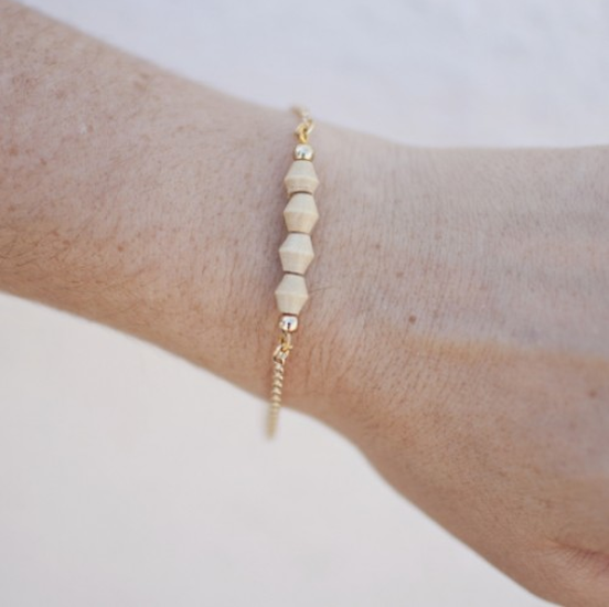 The Shine Project Light Brown Deon Bracelet
