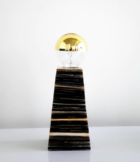 Rose & Fitzgerald Stacked Cow Horn Lamp