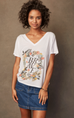 Sudara Women's The Brave Tee V-Neck