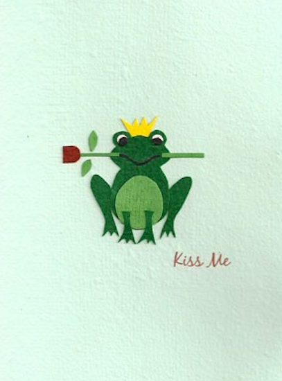 Good Paper Kiss Me Frog Card