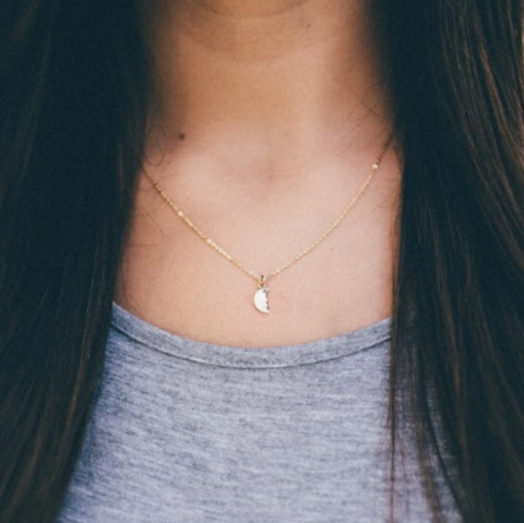 The Shine Project Moon Charm Necklace