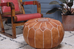 Berber Wares Moroccan Leather Pouf Medium Tan