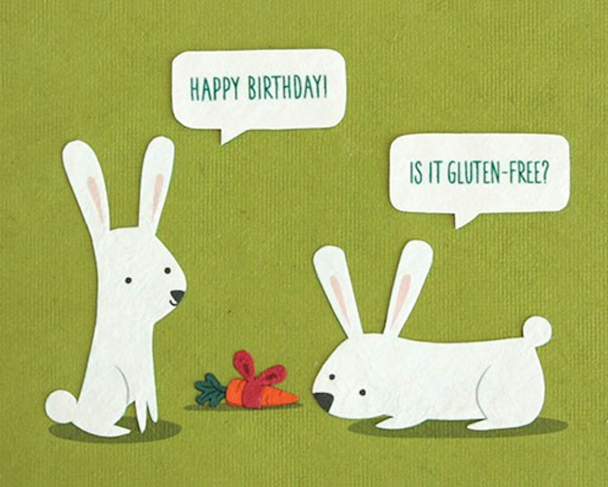 Good Paper Gluten Free Birthday Card