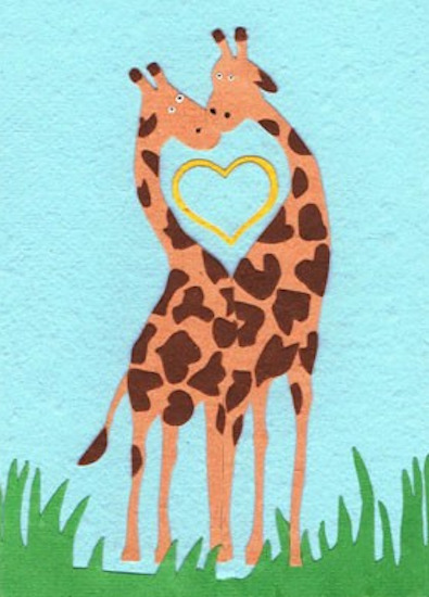Good Paper Giraffe Love
