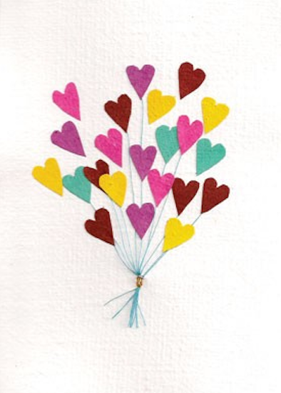 Good Paper Heart Balloons Card