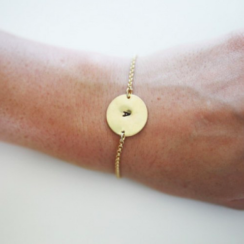 The Shine Project Golden Disk Bracelet