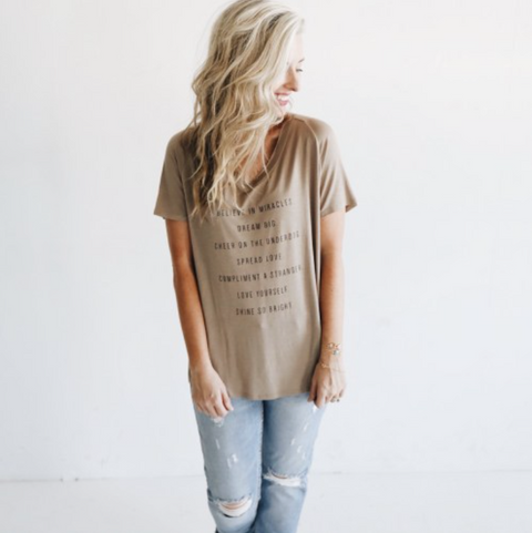The Shine Project Believe in Miracles Tee