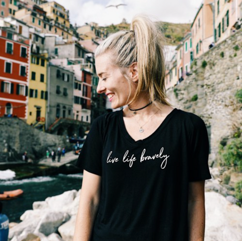 The Shine Project Live Life Bravely Tee