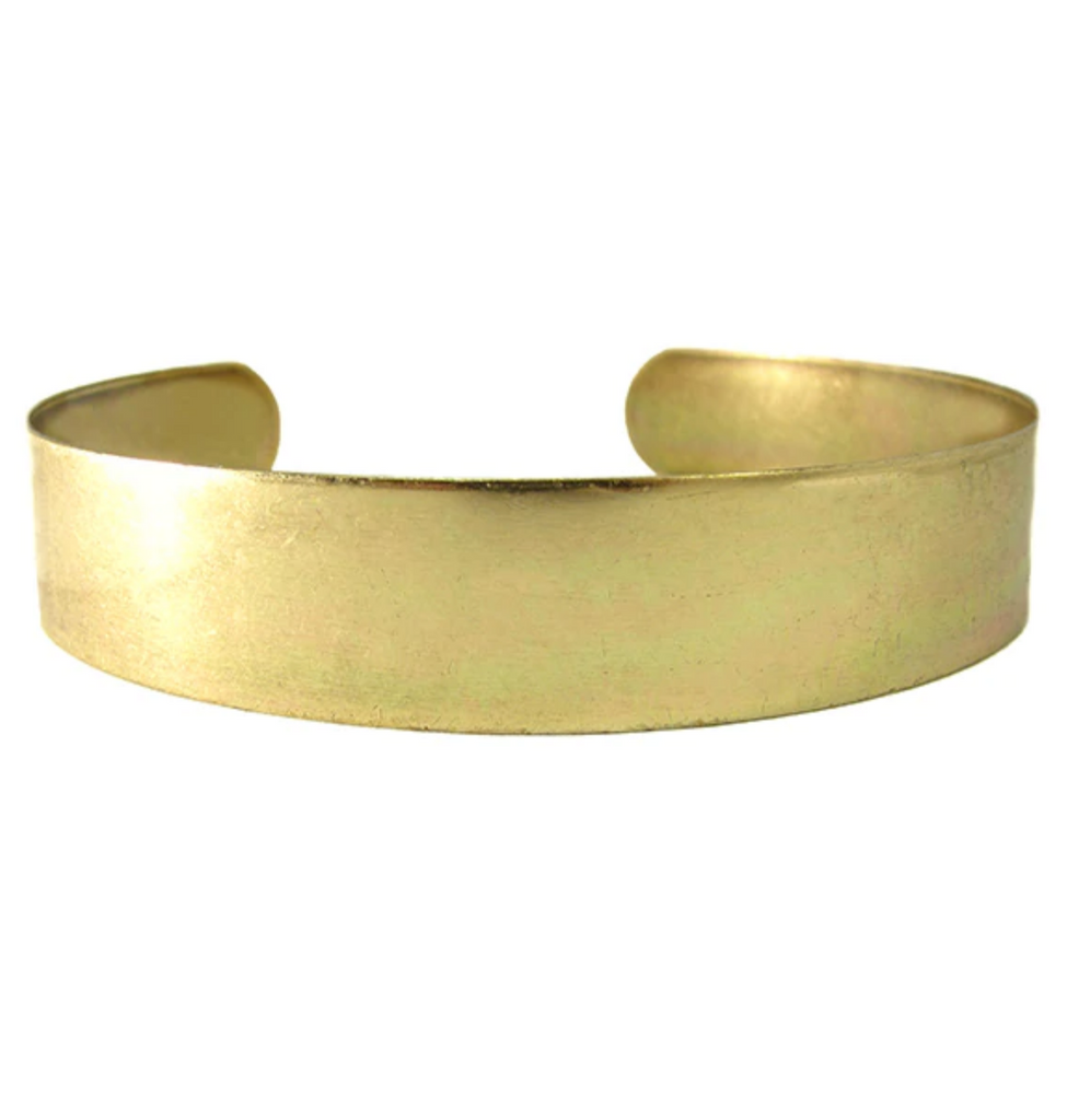 Ornamental Things Aged Brass Bar Choker