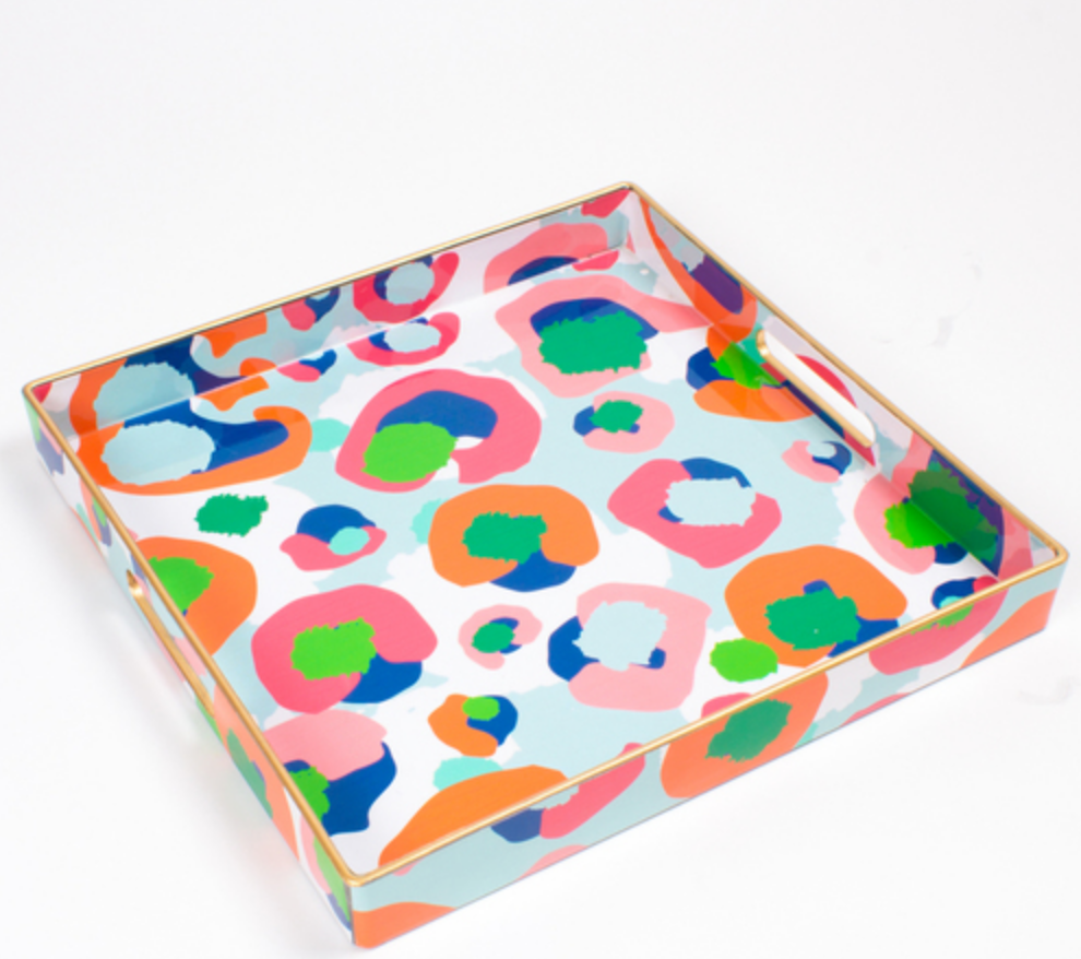 Leopard Square Tray