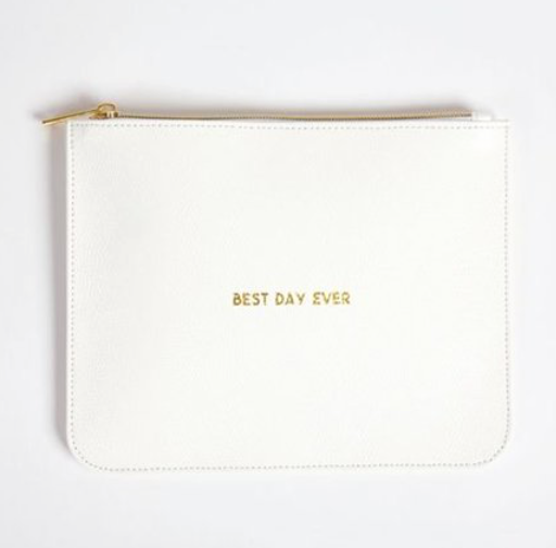 Leatherette Pouch Best Day Ever