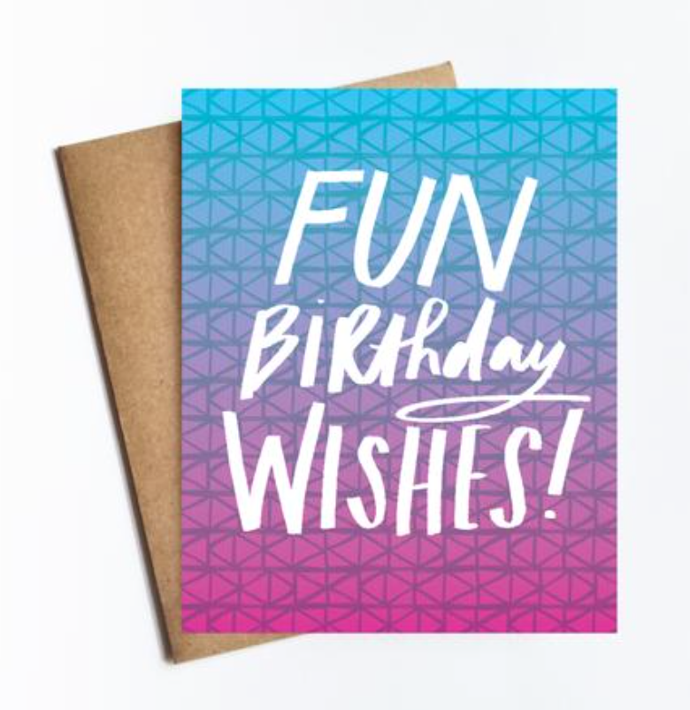 Fun Birthday Wishes Card