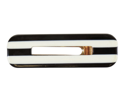 Striped Acrylic Rectangular Hair Clip