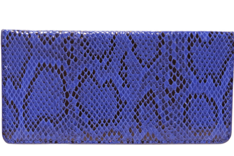 Snakeskin Embossed Wallet- Cobalt Blue